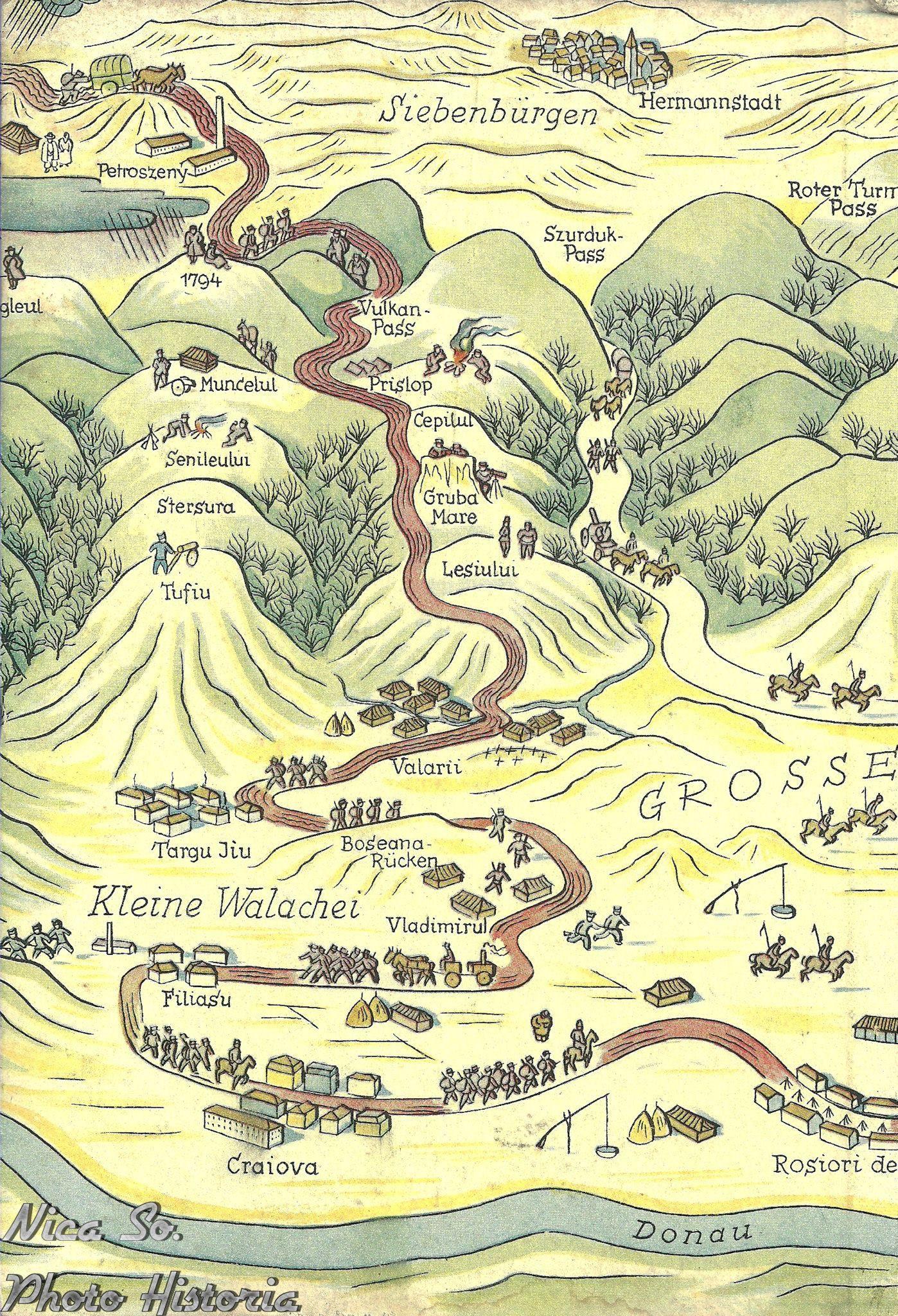 Craiova Targu Jiu Old Maps Pinterest