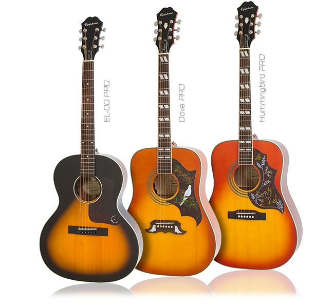 Epiphone Hummingbird The Dove And The El 00 Acoustic Electric Pros Epiphone Epiphone Acoustic Guitar Acoustic Electric
