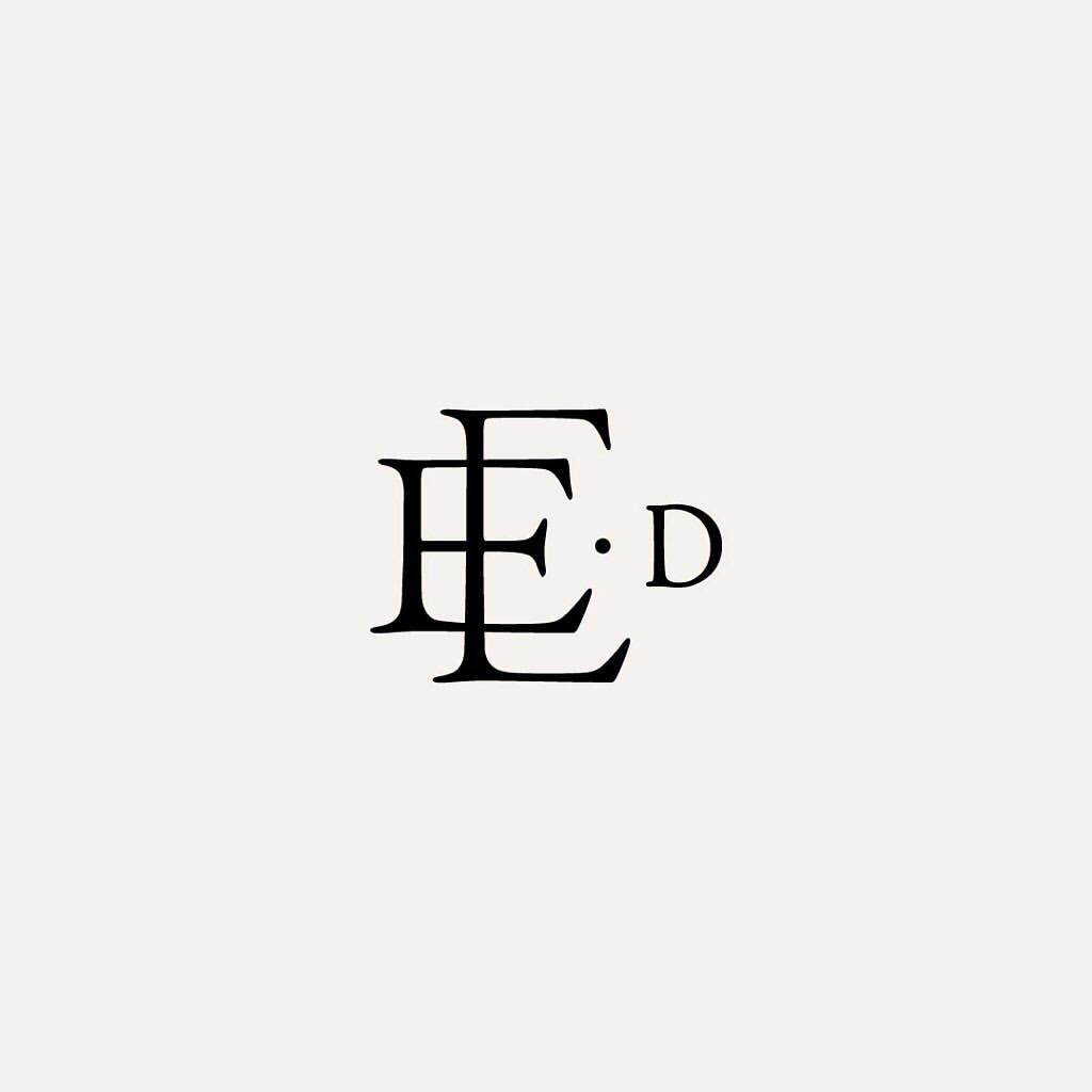 Another Monogram Design That Wasn T The Right Fit Loved How Perfectly The Two Es Overlapped Each Monogram Design Branding Design Logo Logo Design Inspiration