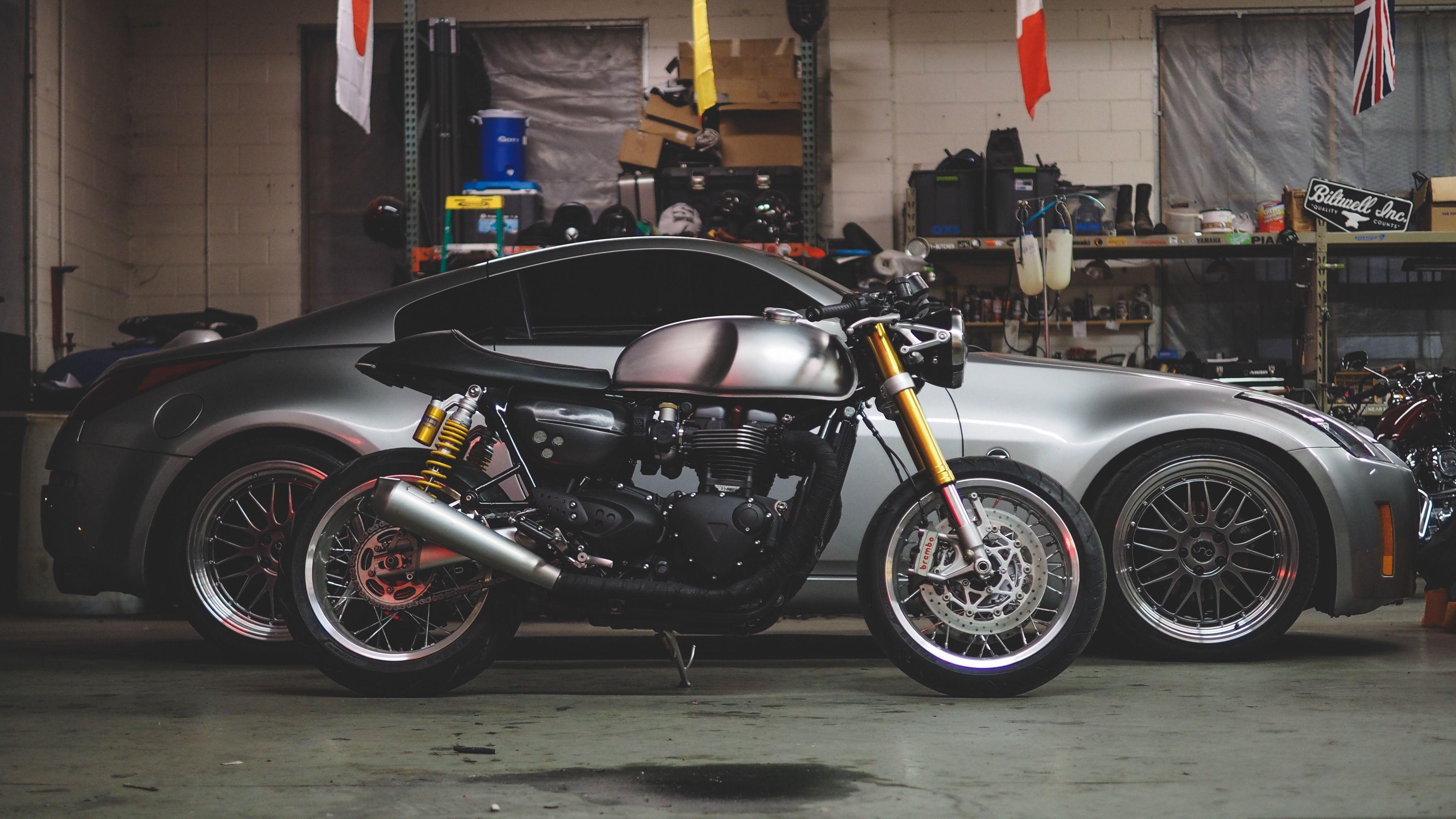 Car Motorcycle Garage 4k 4k Hd Wallpapers Motorcycle Hd Motorcycles Motorcycle Garage