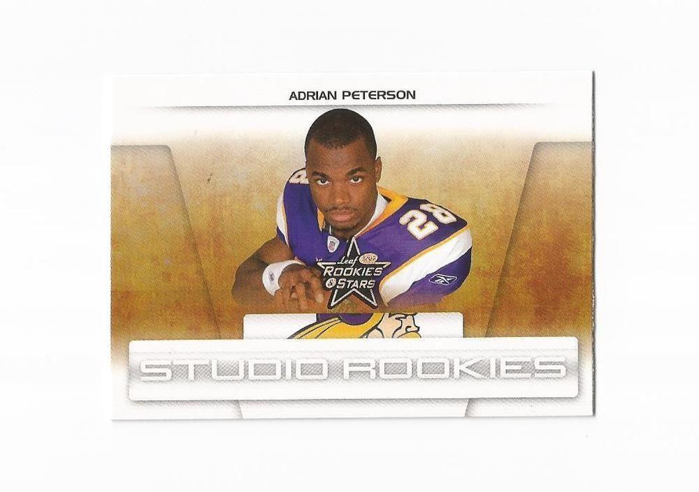2007 leaf studio rookies sr1 adrian peterson minnesota