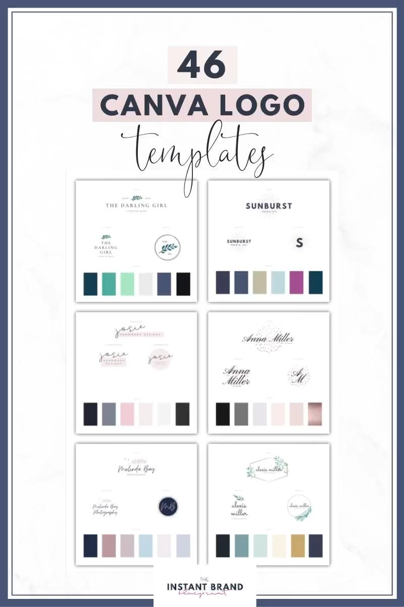 Get 46 Professional Logo Templates for Canva with our Instant Brand Blueprint.  You'll receive the Canva logo templates plus access to 6 bonuses including a Canva Branding Board, Mood Board and Branding Workbook.  Click to learn more now!