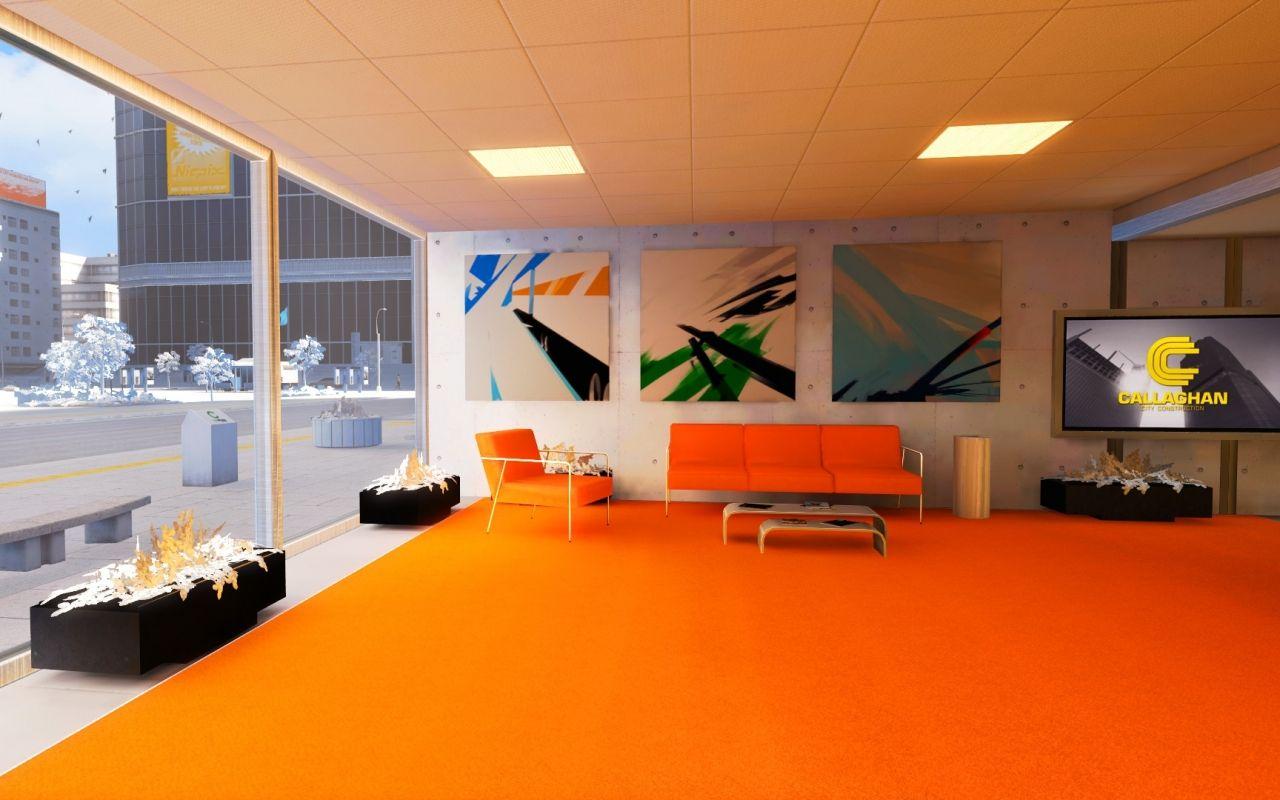 Wallpaper 1280x800 Interior Room Beautiful Mirrors Edge Orange