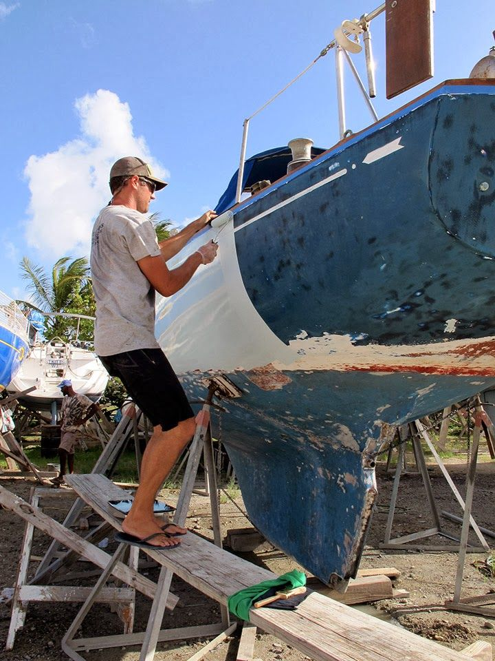 Painting the Hull | Sailboat Painting | Sailboat Restoration | Roll and Tip | verywellsalted.com ...