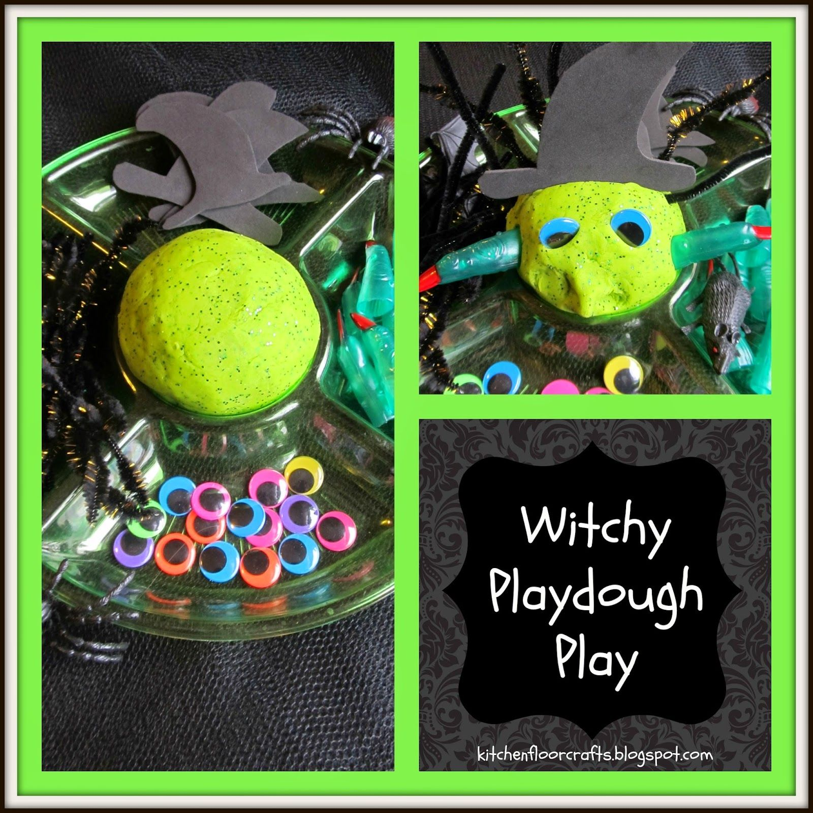 Messy Kitchen Floor Plan: Kitchen Floor Crafts: Witchy Playdough Play