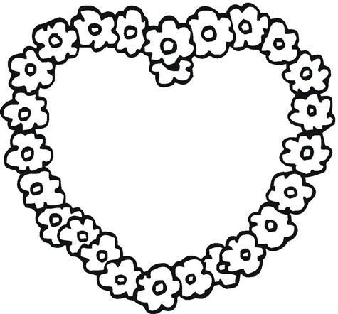 hearts and flowers plant coloring pages coloring pages hearts and - Coloring Pages Hearts Flowers