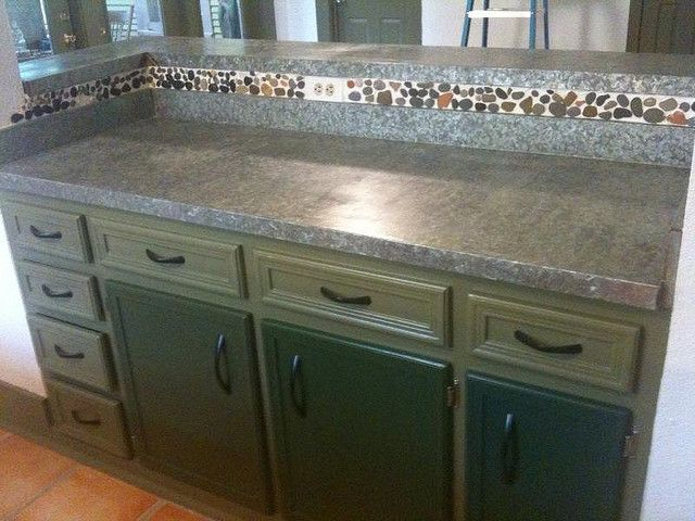Completed The Installation Of Galvanized Steel Countertops For The Finishing Touch Of A Full Kitchen Remodel Const