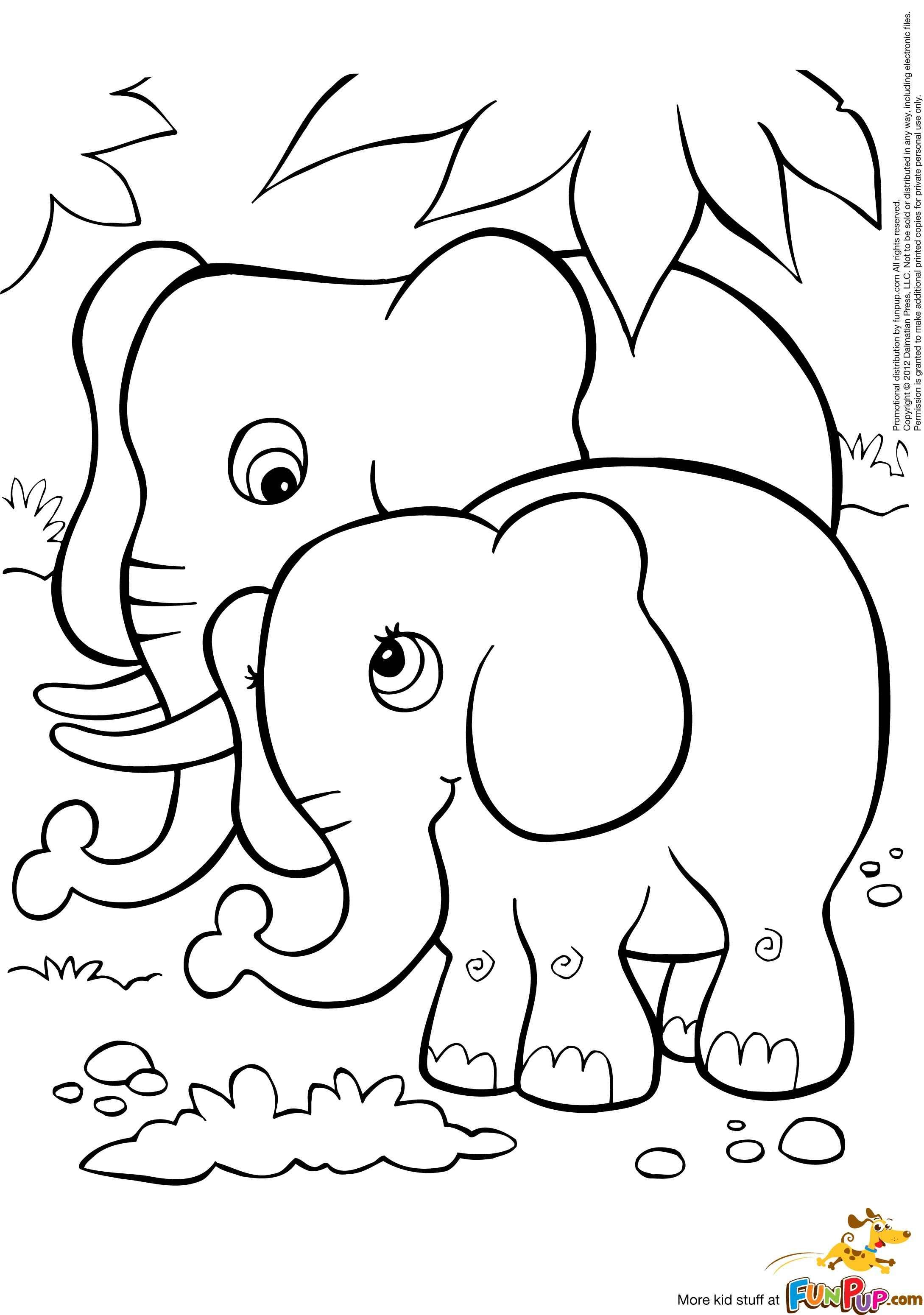 Elephant coloring pages free - Baby Elephant Coloring Page Are Sheets Consisting Of The Cute Baby Elephant Picture At Now Your Kids Can Try Some Sites Offering The Online Coloring Too