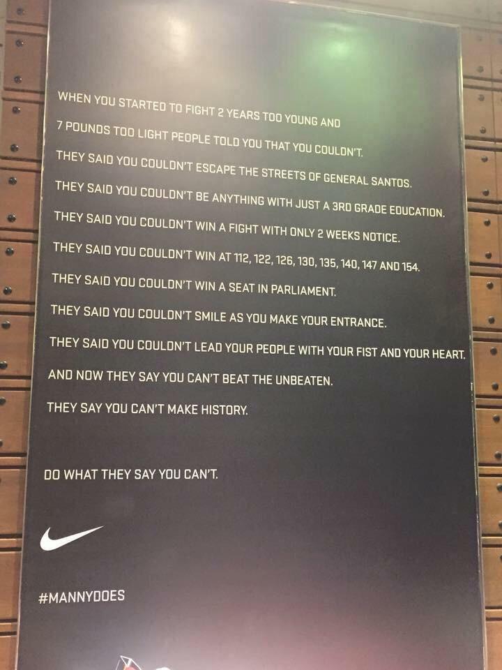 Wow Nike. This is just beautiful. #LabanPacman #MayPac