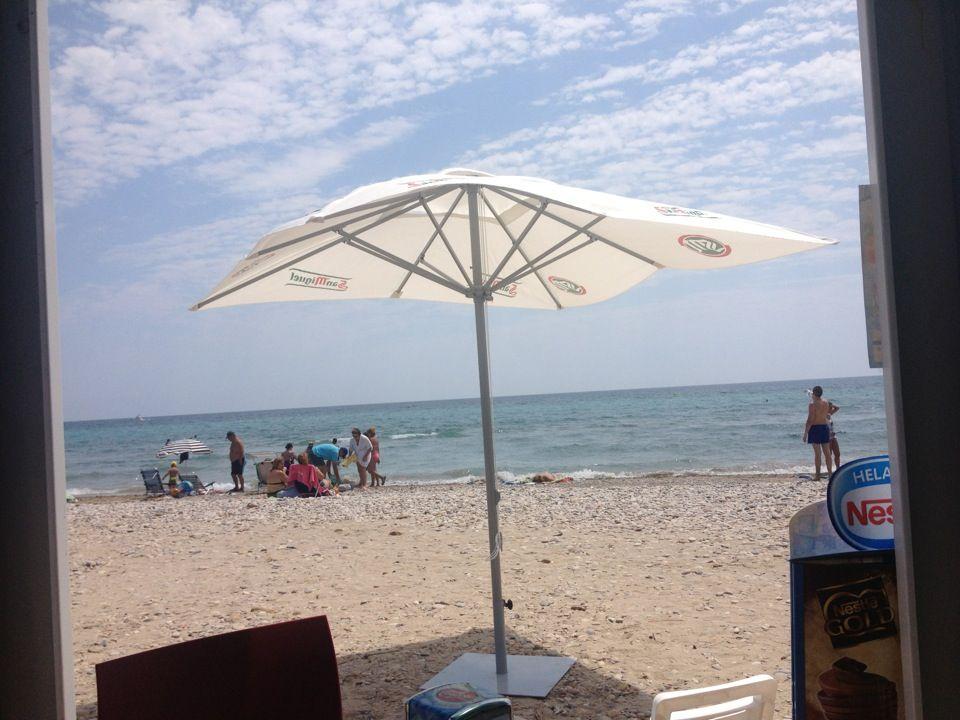 Playa Del Camping Torre La Sal 2 Outdoor Patio Umbrella Photo