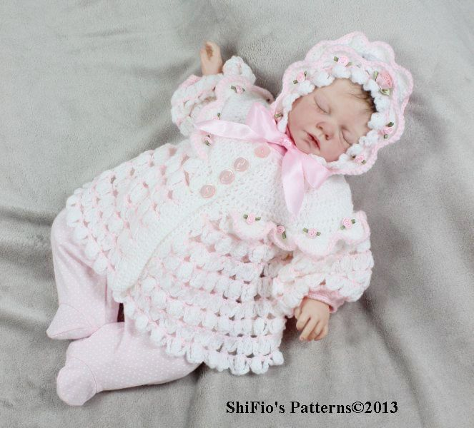 Details About Crochet Pattern For Baby Jacket Hat 111 By Shifio