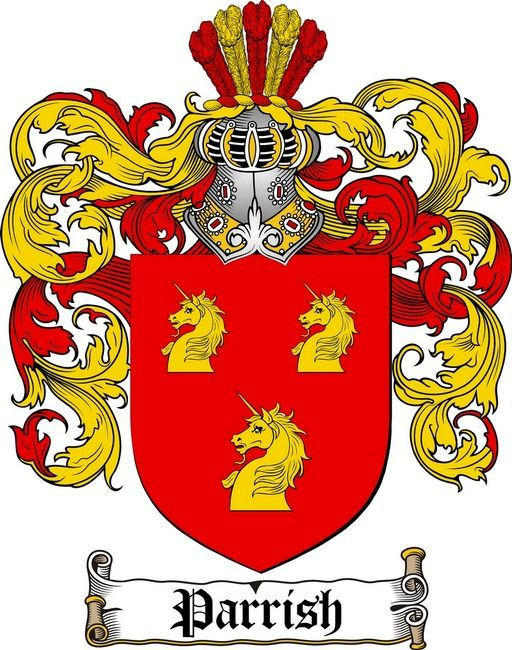 Parrish Family Crest  Coat Of Arms Gifts At WwwCrestsCom