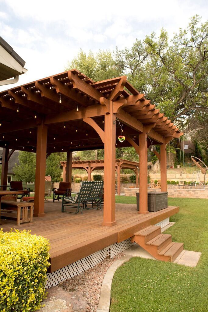 Enjoying their timber frame pergola so much, the family decided to have a  second pergola installed in the backyard of their beautiful Pleasant Grove  home ... - Quick Shade Timber Frame DIY Pergola Kit Decks And Handrails