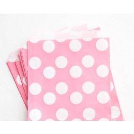Pink Polka Dot Favor Bags | CAKEGIRLS