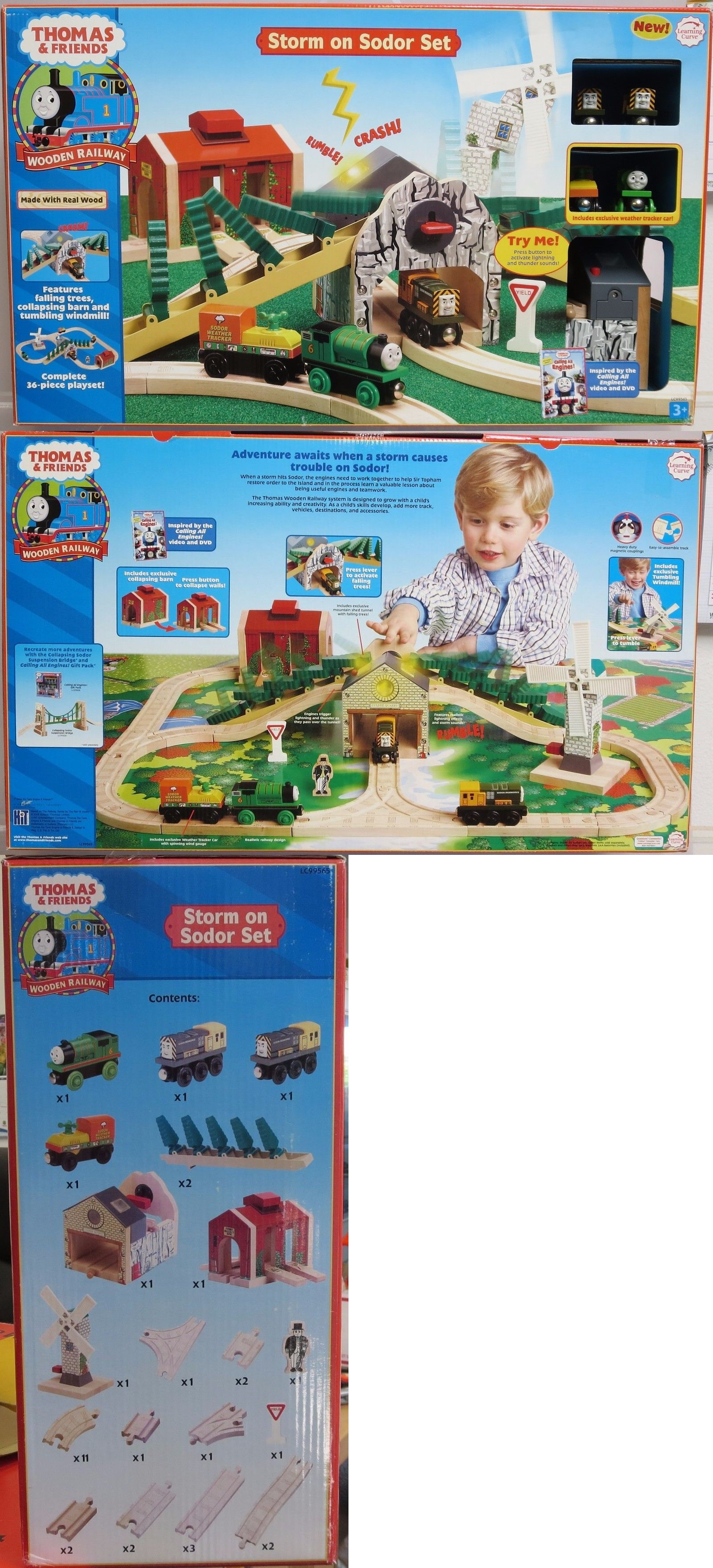 Train Sets 113519 Thomas And Friends Wooden Railway Storm On Sodor Set Lc99565 Nib Rare Buy It Now Only 199 99 On E Train Sets Train Thomas And Friends