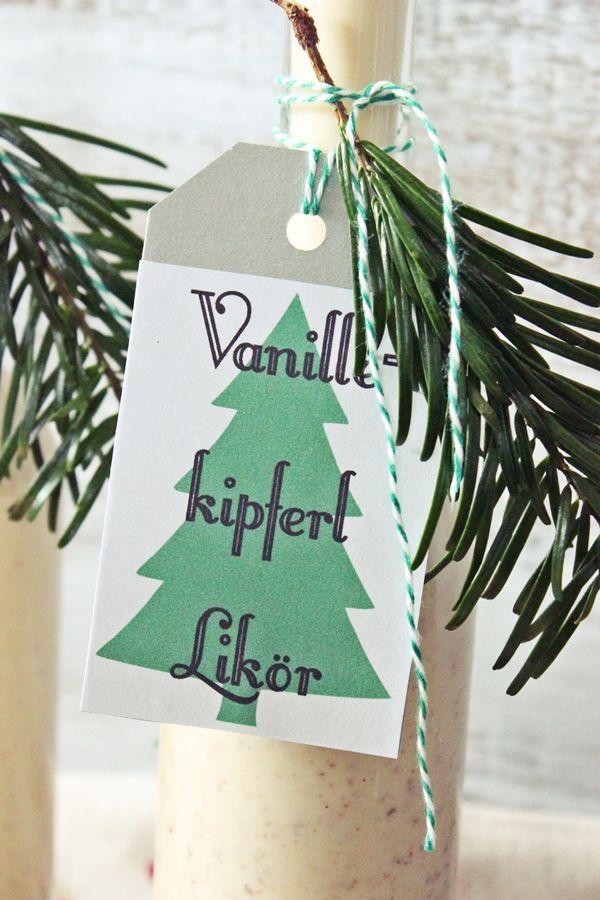 Geschenke aus der Küche Vanillekipferl Likör (s\u0027Bastelkistle) - geschenke für die küche