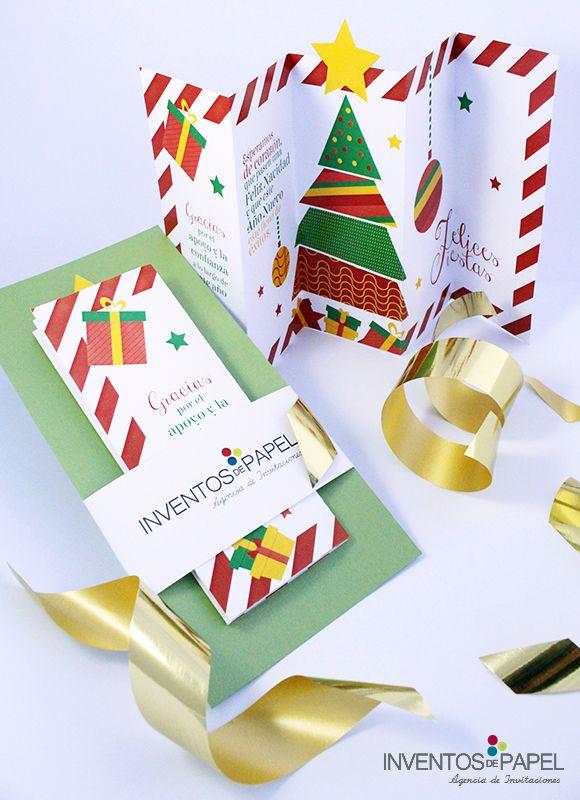 Tarjetas Evento Empresarial Navidad Tarjetas De Navidad