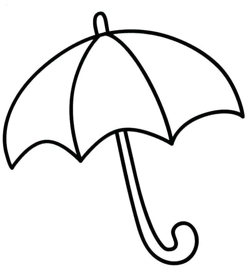 Umbrella Coloring Page For Preschoolers Umbrella Coloring Page Coloring Pages For Kids Coloring Pages
