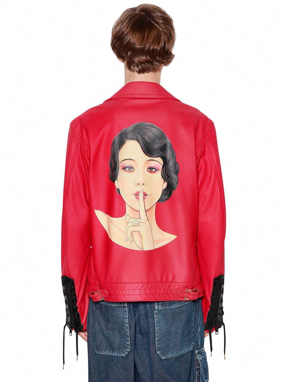 Yohji Yamamoto Hand Painted Leather Jacket W Laces Yohjiyamamoto Cloth Leatherjacketsf Painted Leather Jacket Hand Painted Leather Jacket Leather Jacket [ 1500 x 1125 Pixel ]