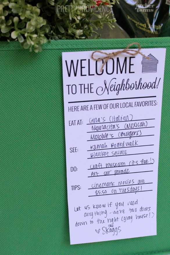 New Neighbor Welcome Gift Basket DIY Ideas New