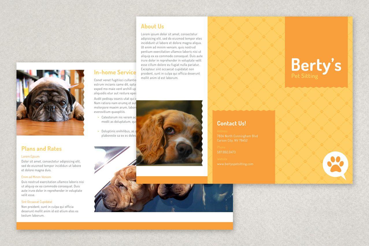 Pet Sitting Brochure Template Inkd Pet Sitting Business Brochure Design Template Pet Sitting