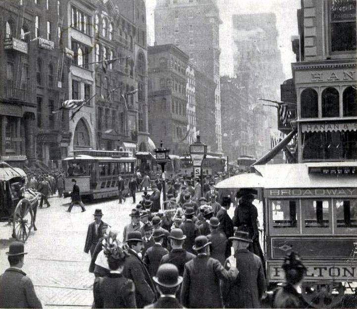 Lower Broadway, 1899