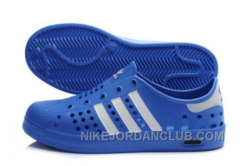 adidas Originals Superstar 2012 Summer Beach Shoes Mens Blue With White  Stripes