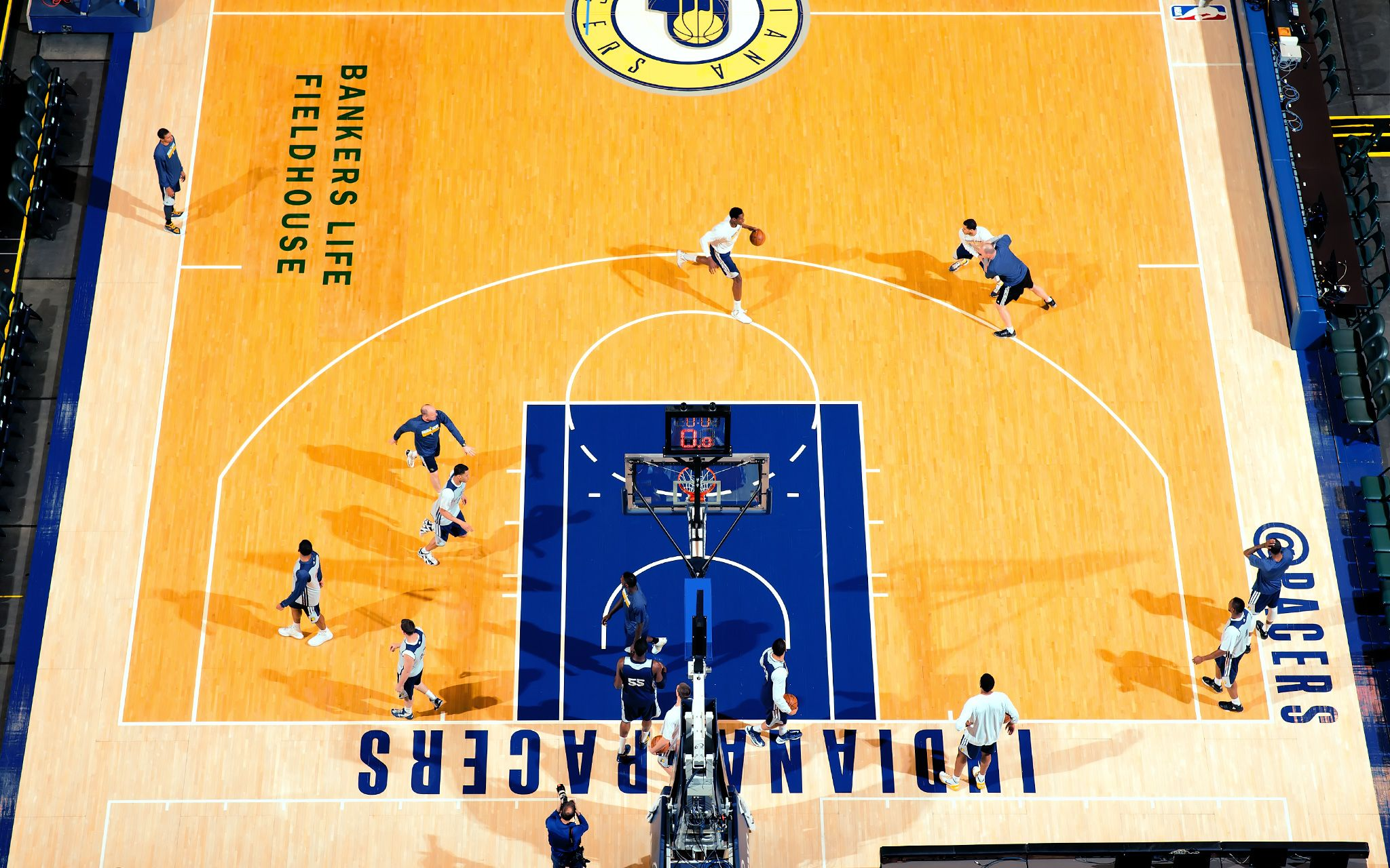 Indiana Pacers Bird s eye view of practice
