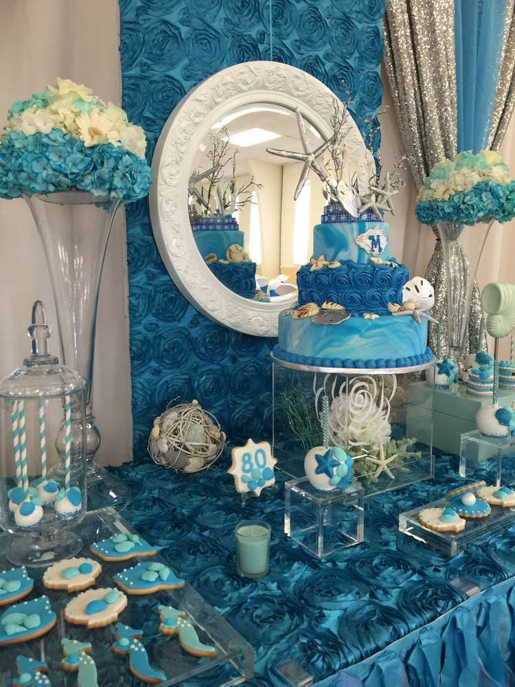 A beautiful under the sea birthday party! See more party