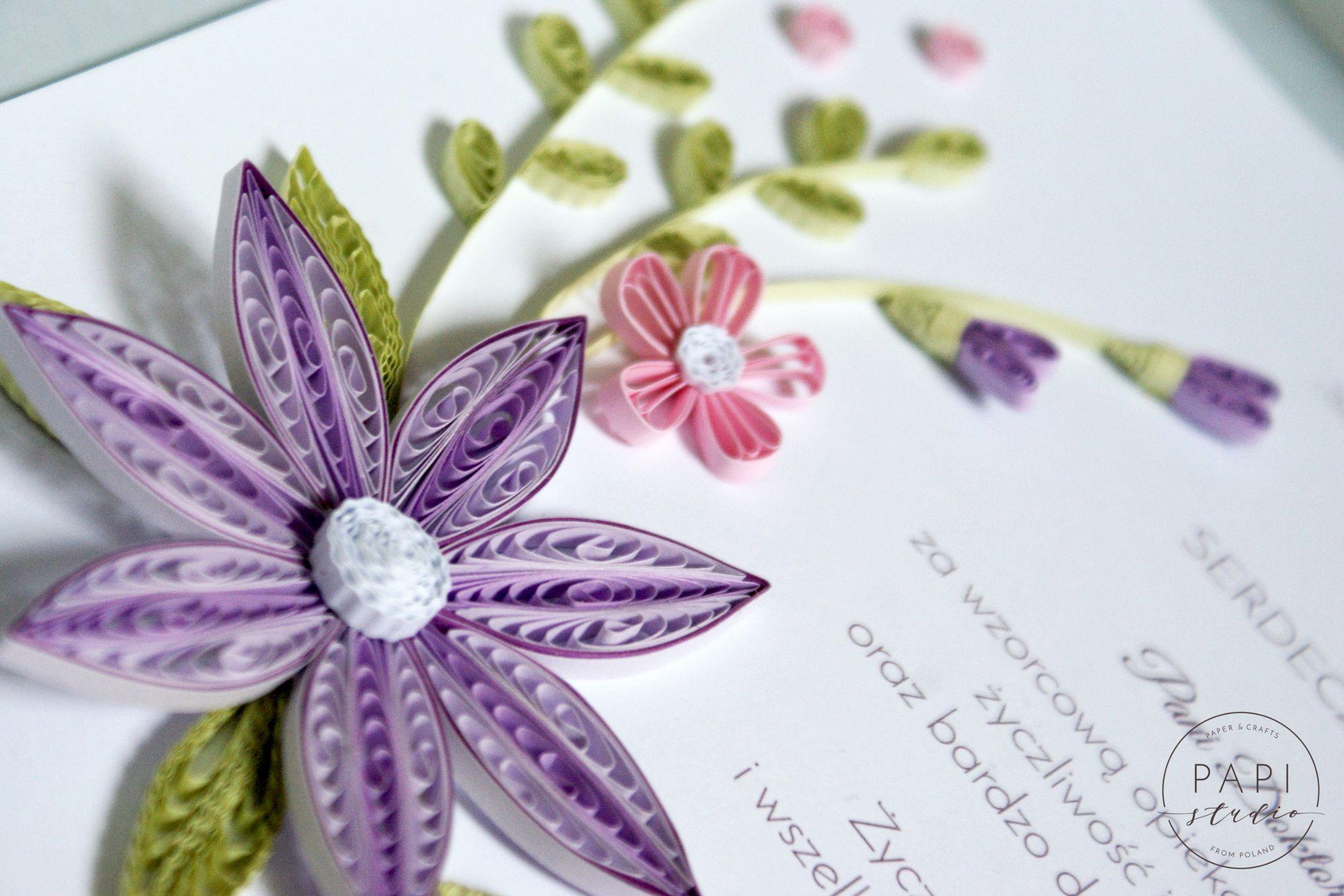 Podziekowanie Dla Lekarza Obrazek Quilling Flowers Floral Rings Floral Quilling