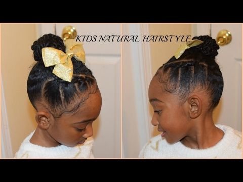 Kids Little Girls Natural Hairstyles Back To School Rubberband Plaits Cornr Natural Hairstyles For Kids Natural Hair Styles Formal Hairstyles For Short Hair