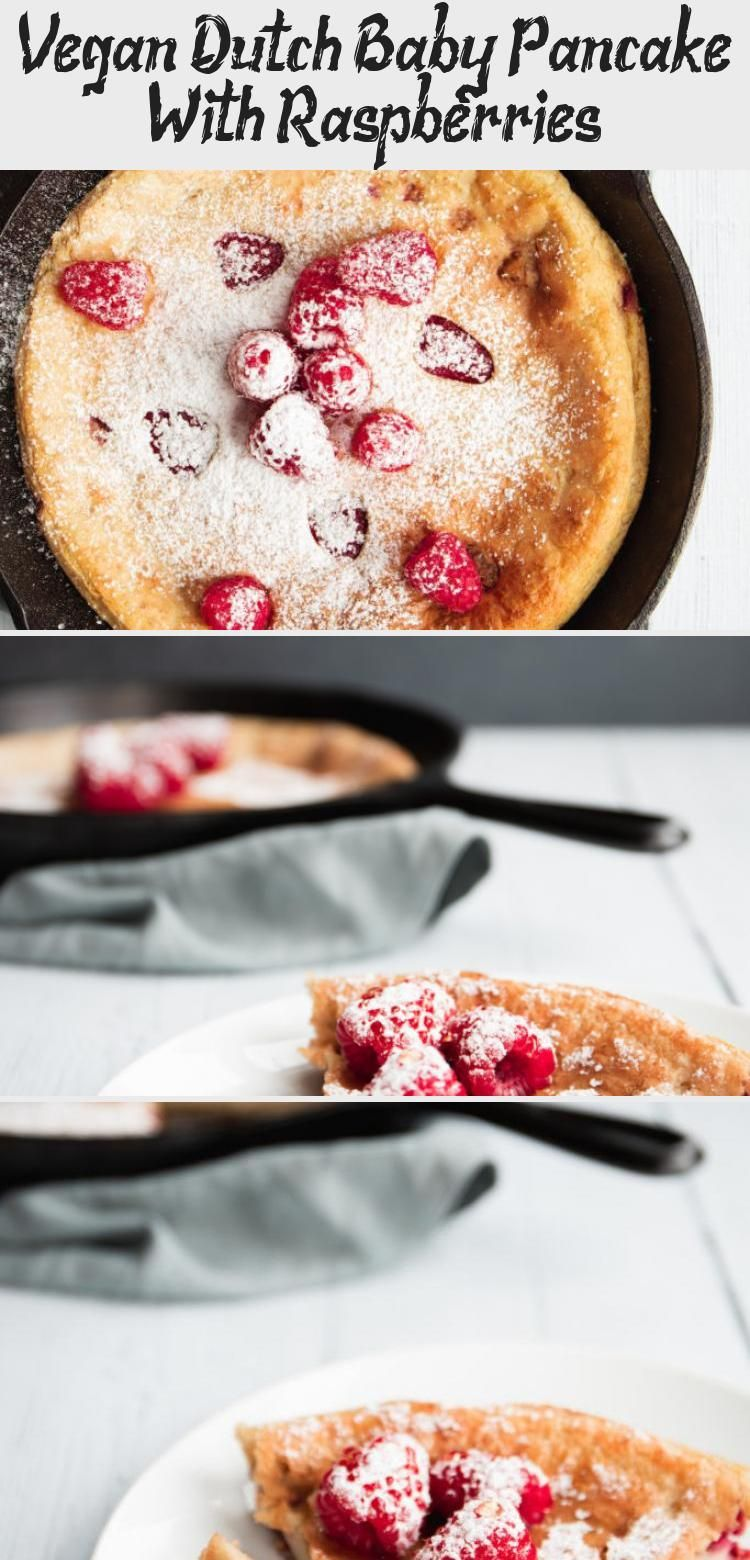 Vegan Dutch Baby Pancake With Raspberries - Cake in 2020 ...