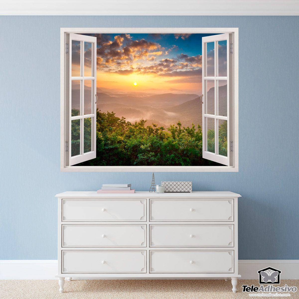 Adesivi Murali Sunset Paesaggio | ADESIVI MURALI FINESTRE ...