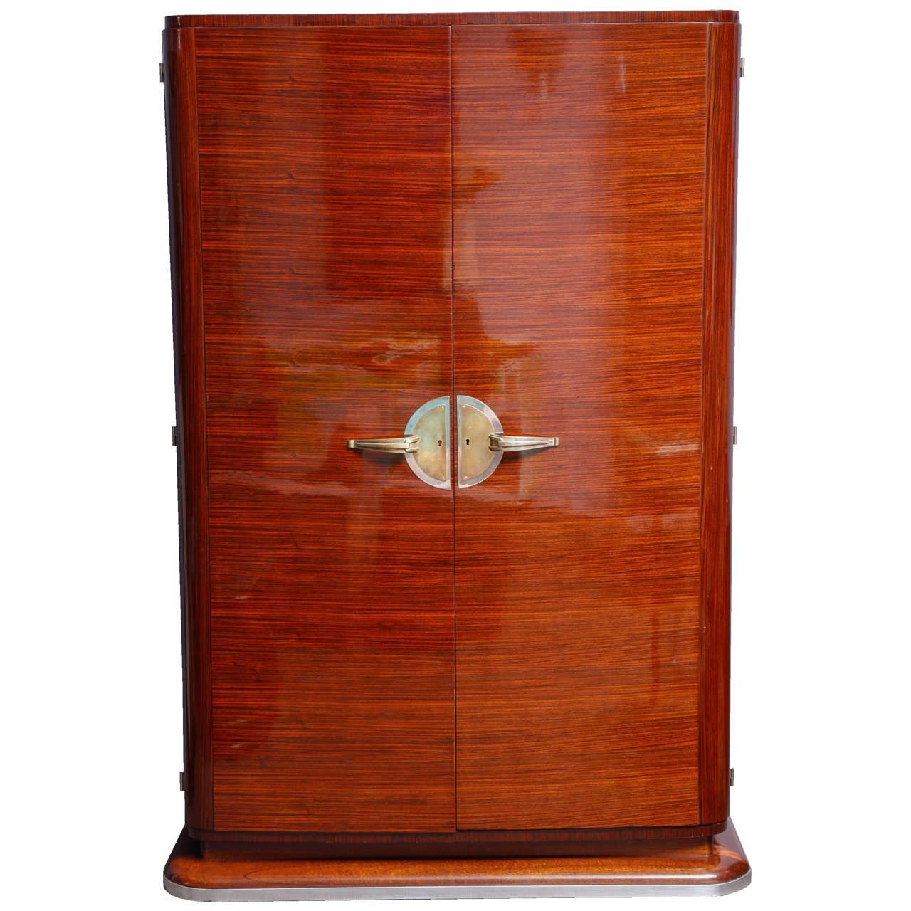 French Art Deco Wardrobe, Indian Rosewood