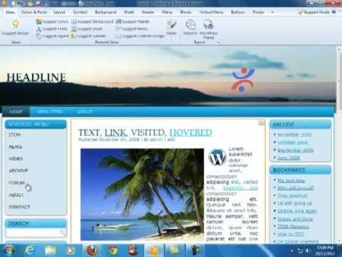 Tutorial Cara Publish Template Atau Themes Artisteer Ke Wordpress ...