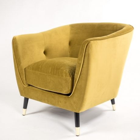 Dark Gold Velvet Armchair Velvet Chair Occasional Chairs