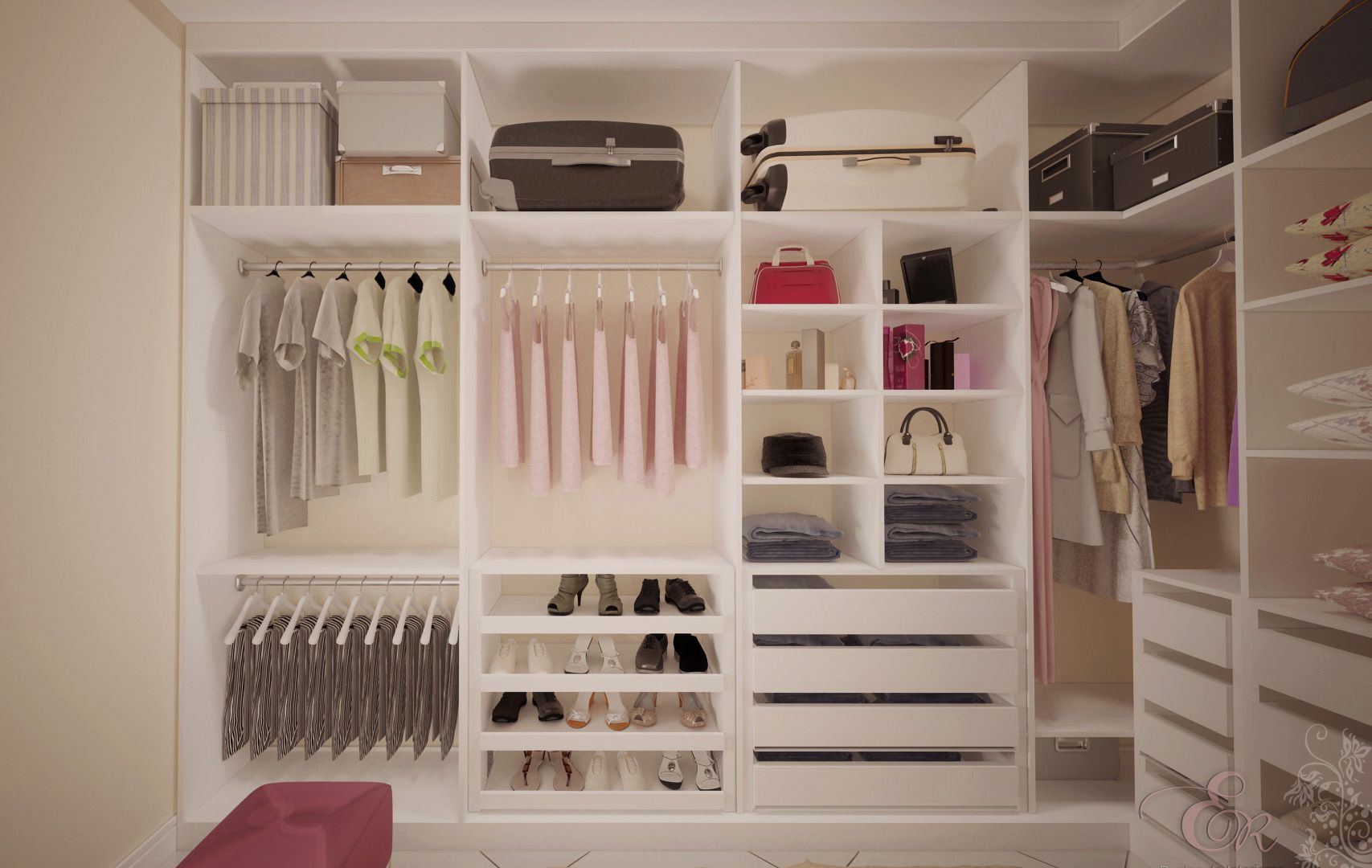 Resultado de imagem para closet pequeno para casal projeto