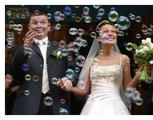Bubbles during the recessional!