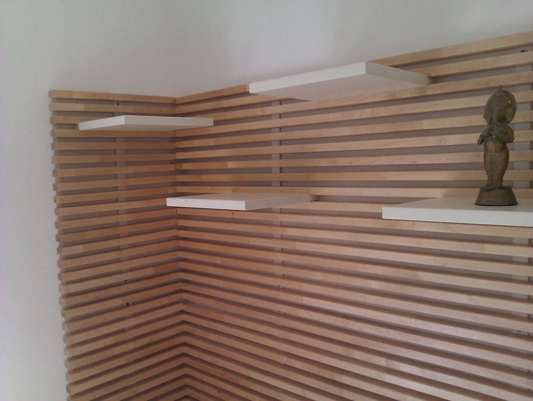 Interior Design Wood Slat Wall Eames Shell Chair Ikea Fold Out Bed 21