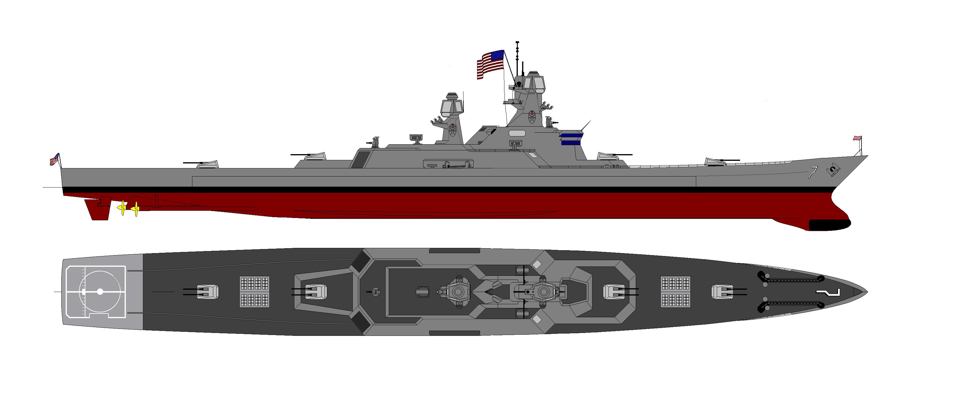 Battlecruiser | Thread: Is the battlecruiser concept ... Modern Us Battleship Design