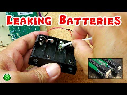This Is How To Clean The Blue Green White Corrosion From Battery Contacts Caused By Alkaline Batteries You Can Sav Power Tool Batteries Battery Hacks Cleaning