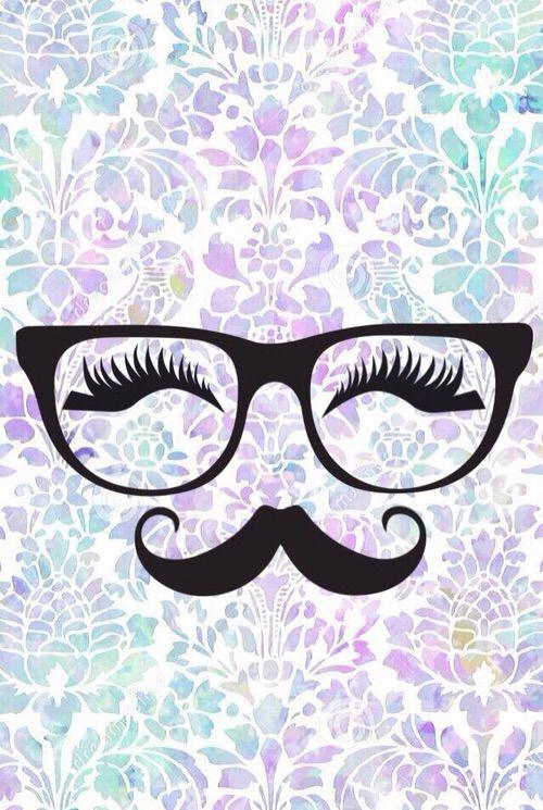 Image Via We Heart It Background Colorful Eyelashes Glasses Hipster