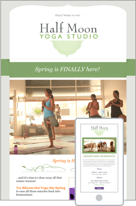 The Best Emails Start With Templates Check Out These Examples Of Our Easily Customizable Email Yoga Studio Newsletter Template