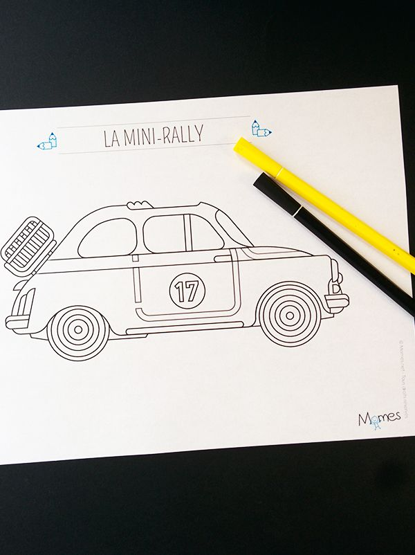 Coloriage Voiture De Rallye.Coloriage La Voiture De Rallye Coloriages Diy For Kids