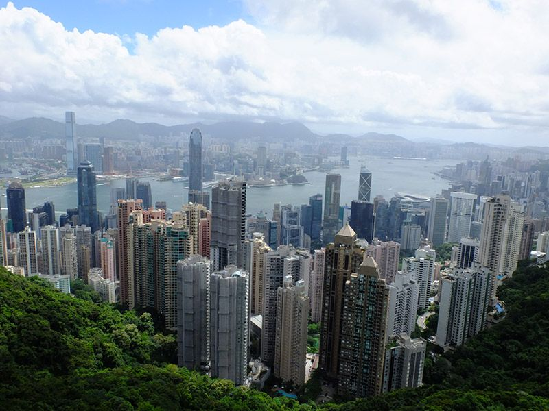 Ausblick auf Hong Kong vom Victorias Peak