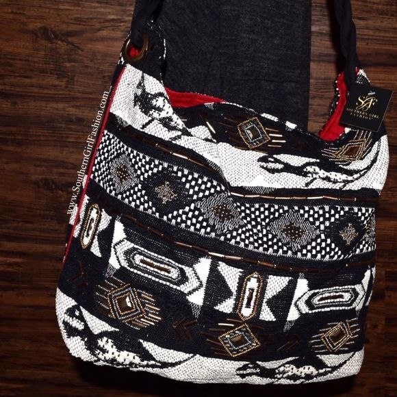 I just discovered this while shopping on Poshmark: PATCHWORK BAG Patterned Large Bohemian ShoulderBoutique. Check it out!  Size: OS