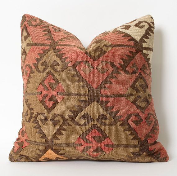 Kilim Pillow Cover Kilim Cushion Turkish Pillows by pillowme   Kelim ...