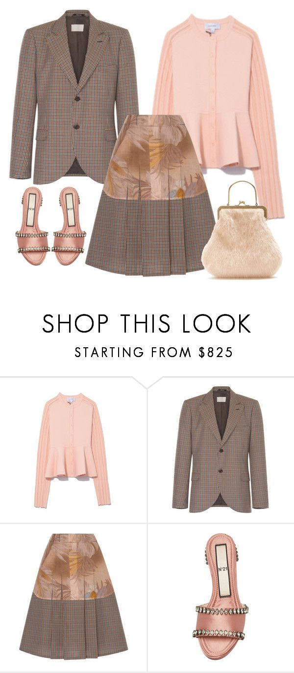 """Micro Check"" by cherieaustin on Polyvore featuring Gabriela Hearst, Maison Margiela, N°21, Shrimps, maisonmargiela, no21, shrimps and GabrielaHearst"