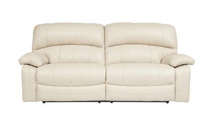 Damacio Cream Leather 2 Seat Reclining