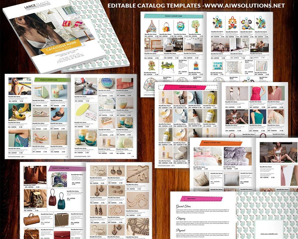 Wholesale Catalog template-id06Line Sheet / Product Catalog ...